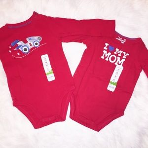 NWT long sleeve Onsies size 24 months